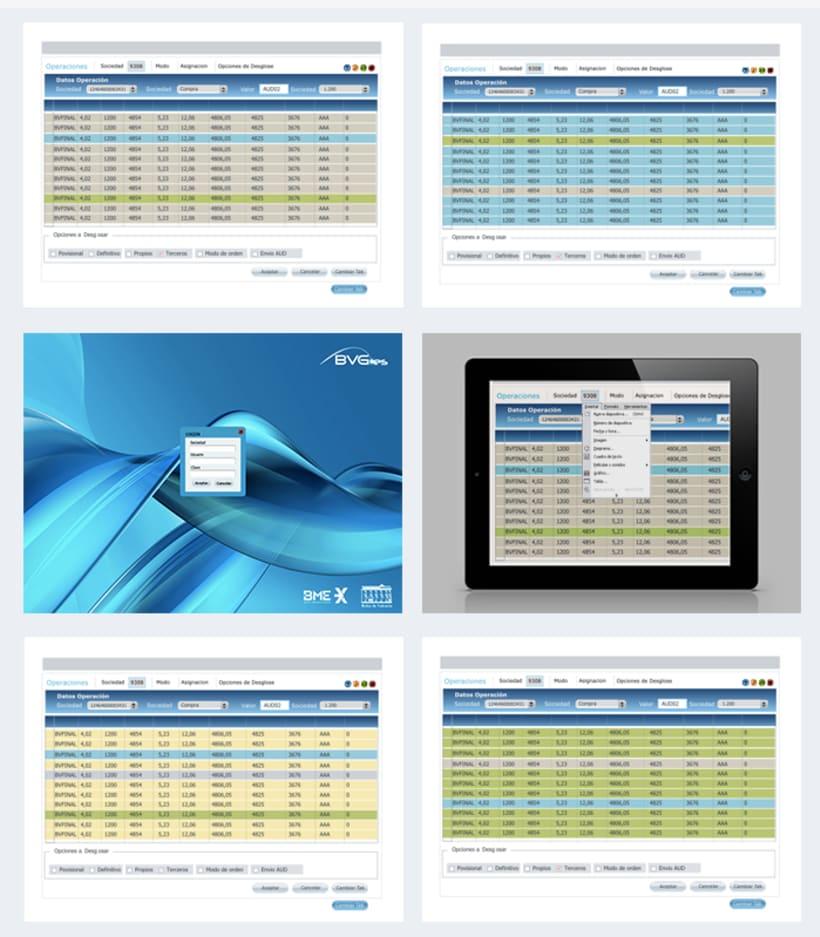 Diseño de marca y diseño UX de aplicación Bolsa de Valencia 0