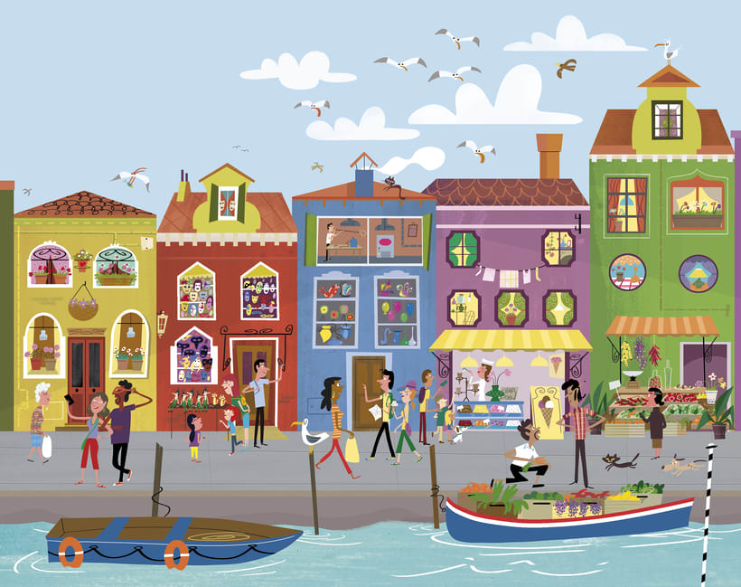 First Sticker Book Venice (Usborne) 5