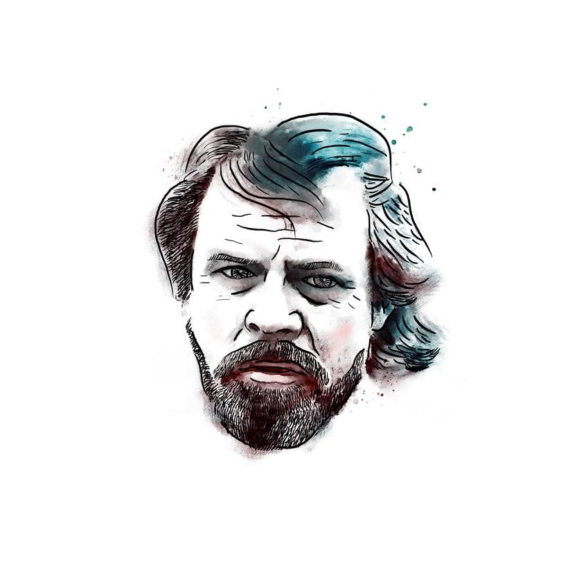 Luke Skywalker; mi proyecto del curso: Retrato ilustrado con Photoshop 1