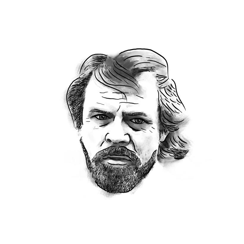 Luke Skywalker; mi proyecto del curso: Retrato ilustrado con Photoshop 3