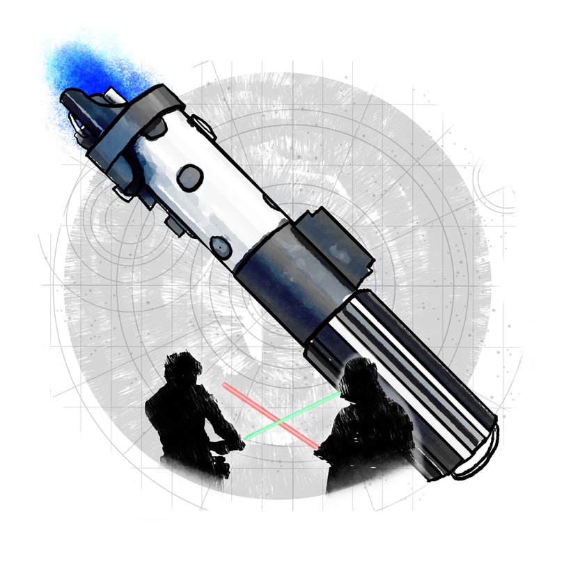Luke Skywalker; mi proyecto del curso: Retrato ilustrado con Photoshop 4