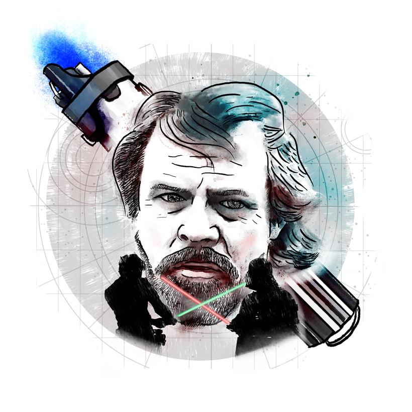 Luke Skywalker; mi proyecto del curso: Retrato ilustrado con Photoshop 0