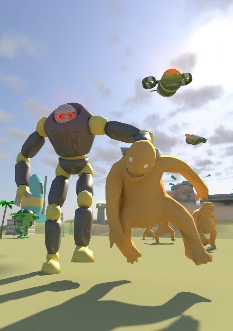 MonsTECA - Monsters vs Robots 0