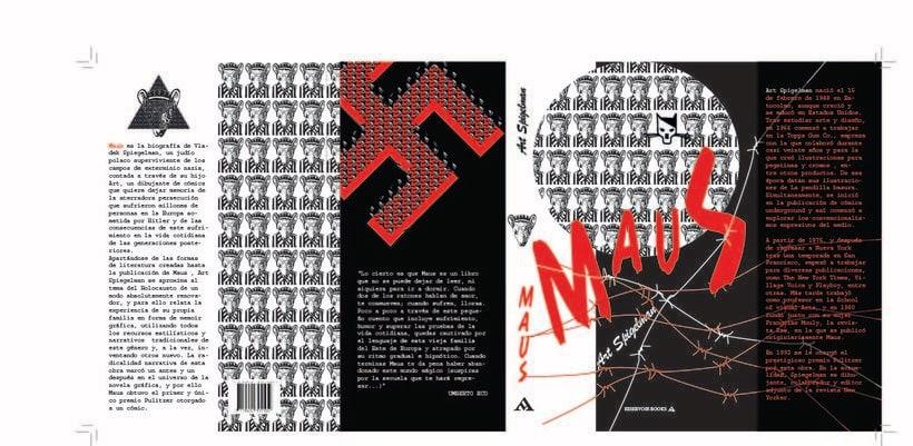 Rediseño de cubierta de la novela gráfica MAUS 1