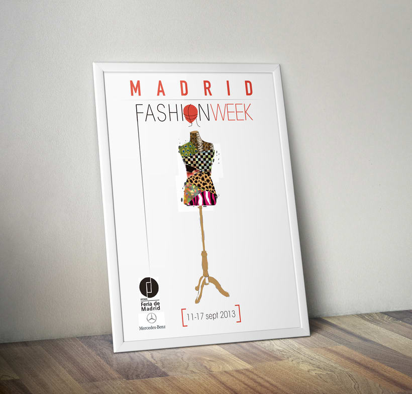 DISEÑO DE CARTEL PARA LA FASHION WEEK MADRID 2013 1