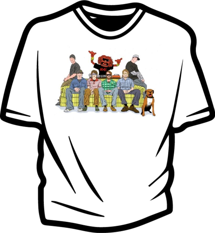 Ilustración para concurso de diseño T-Shirt GrafikConcert 2