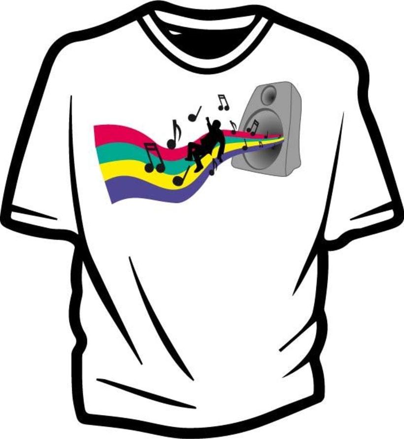 Ilustración para concurso de diseño T-Shirt GrafikConcert 9