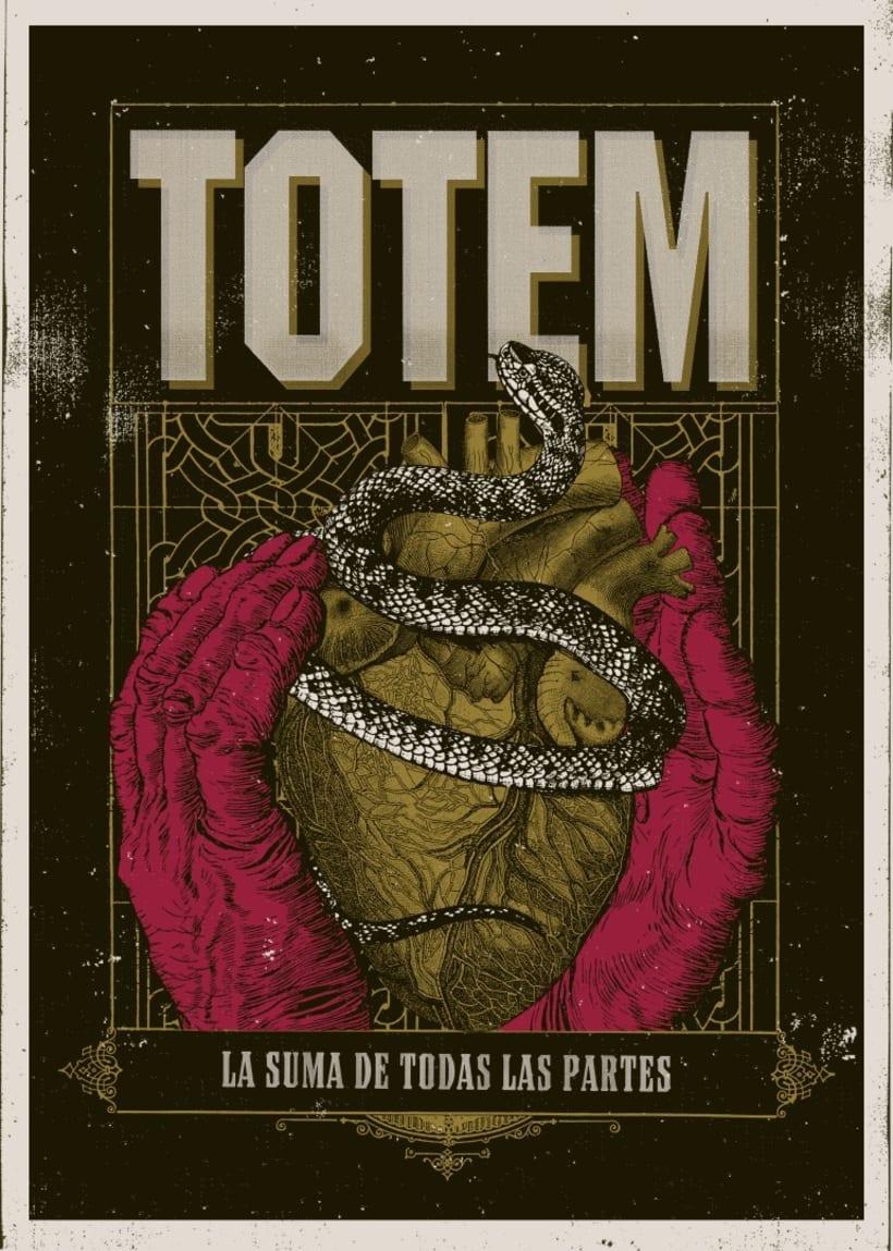 Totem - Afiche y serigrafia para remera -1