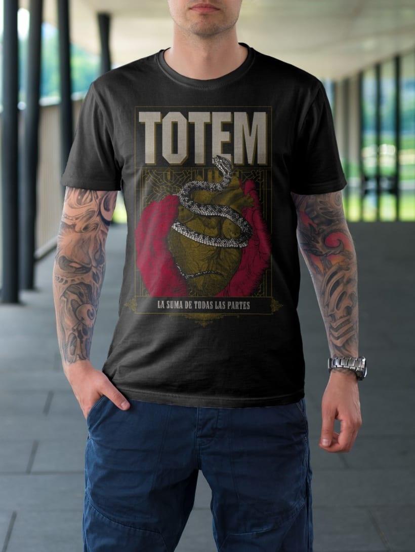 Totem - Afiche y serigrafia para remera 1