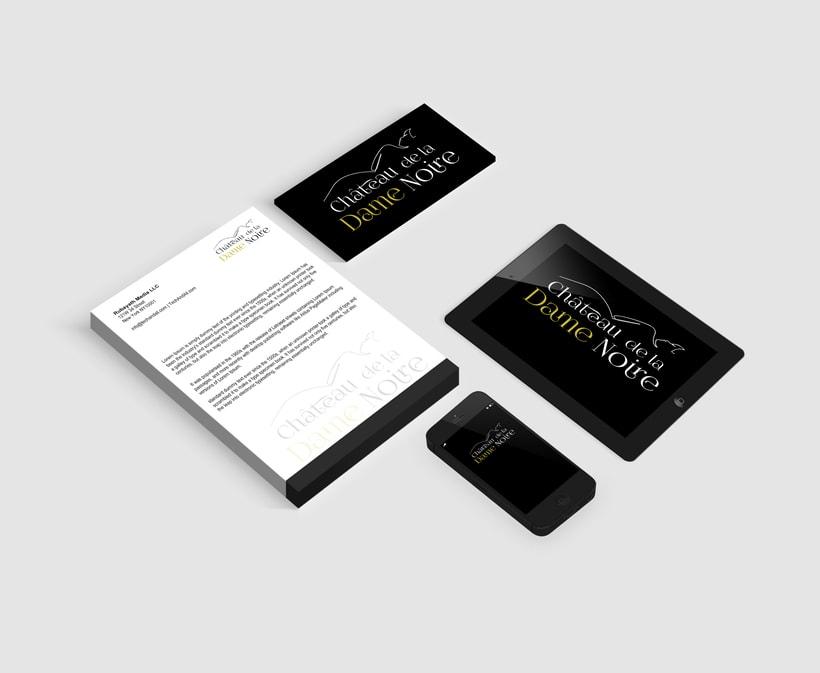 Chateau de la Dame Noire - Proyecto identidad corporativa 4