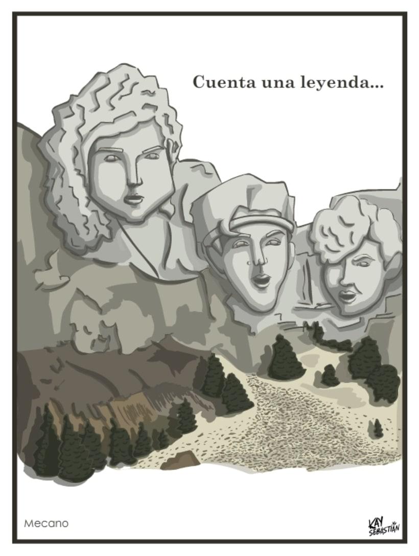 Caricaturas. Artistas musicales españoles 80s 4
