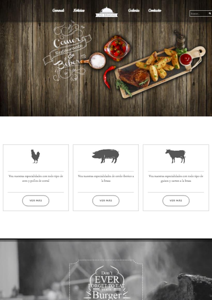 Diseño web http://lasbrasasrestaurante.es/ 0