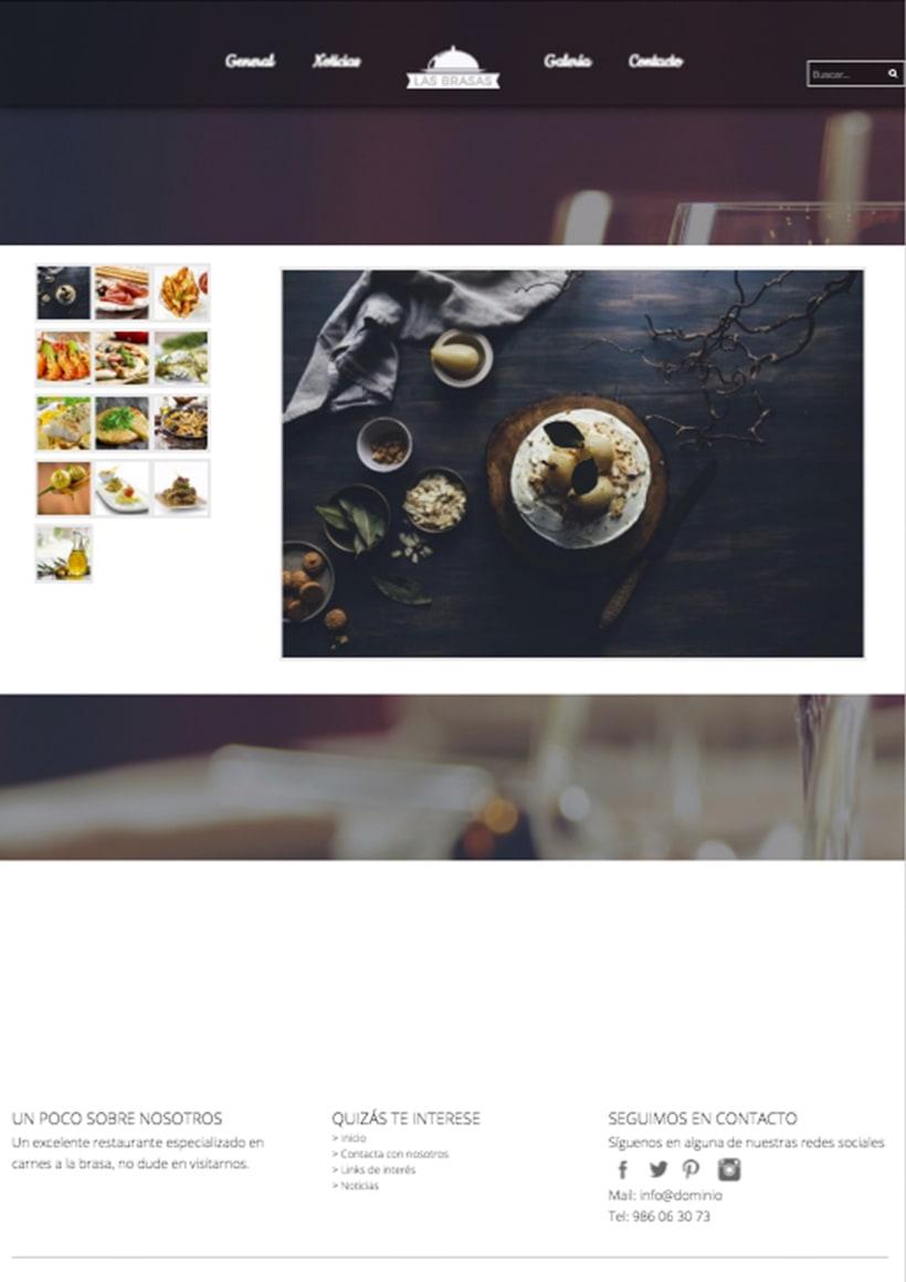 Diseño web http://lasbrasasrestaurante.es/ 1