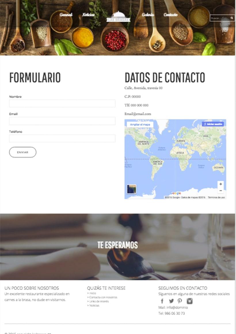 Diseño web http://lasbrasasrestaurante.es/ 2