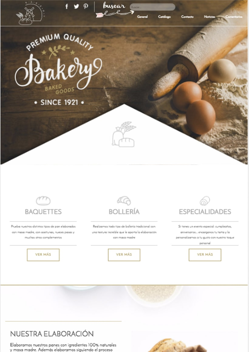 Diseño web http://elmolinobakery.es/ -1