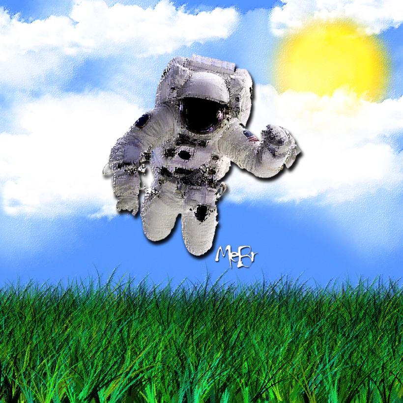 Astronauta en la tierra - ilustración -1