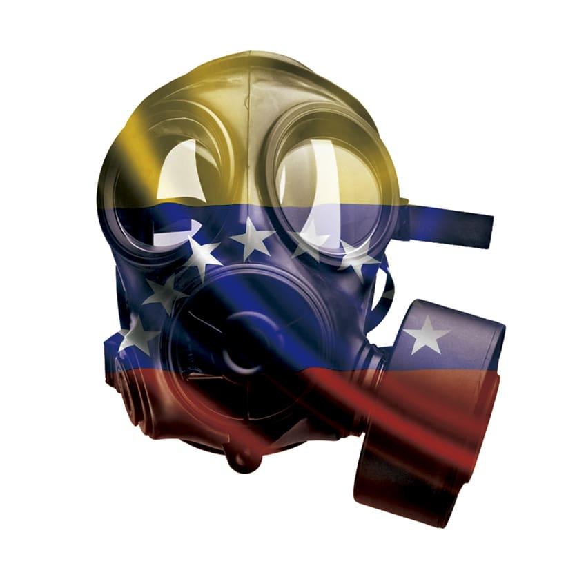Máscara tricolor - Doble exposición -1