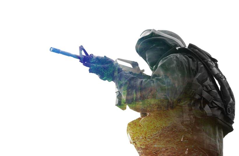 Soldado - Doble exposición -1