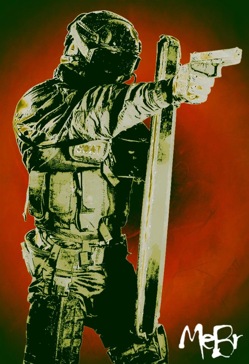 Policía SWAT - ilustración -1