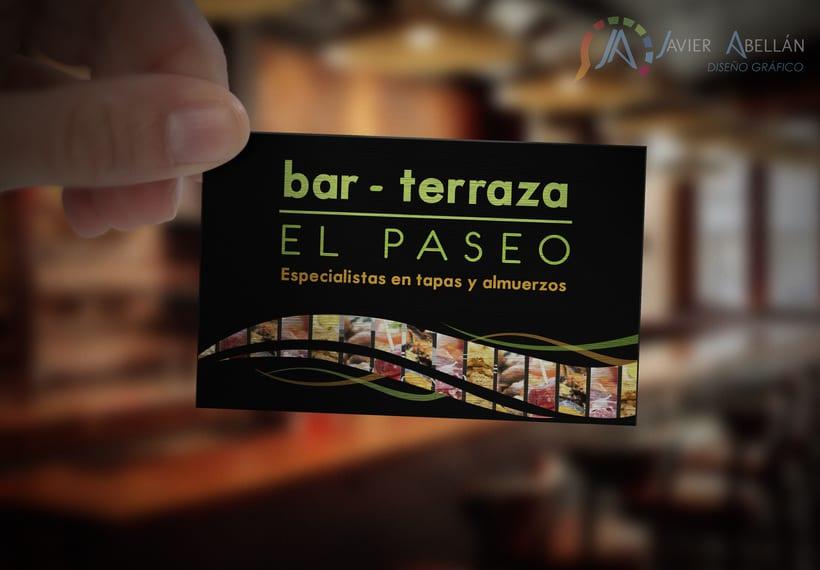 Logotipo y tarjetas de visita Bar terraza El Paseo 1