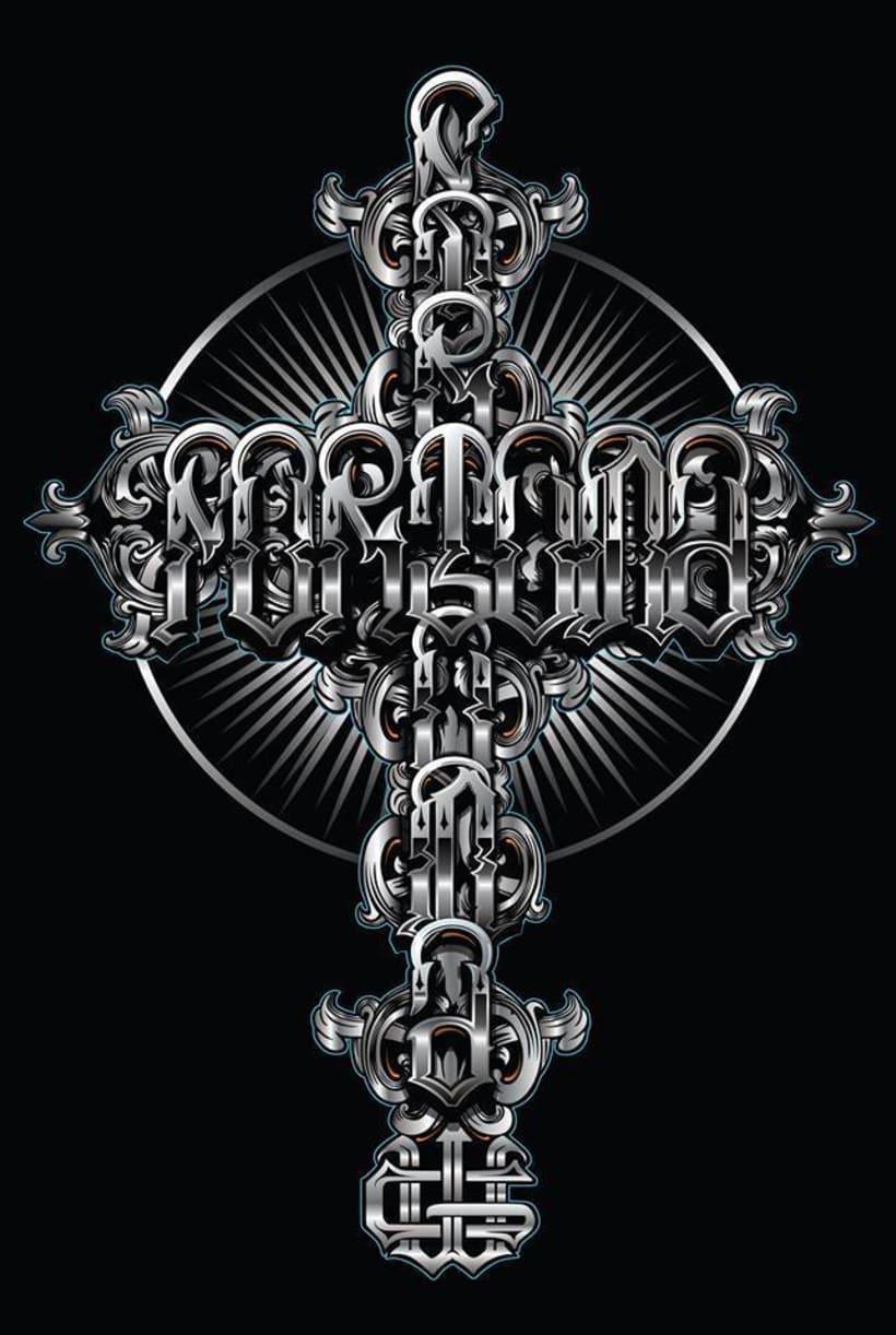 """ilustracion lettering """"fortuna"""" Cuen -1"""