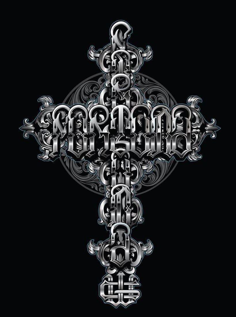 """ilustracion lettering """"fortuna""""  X Cuen -1"""