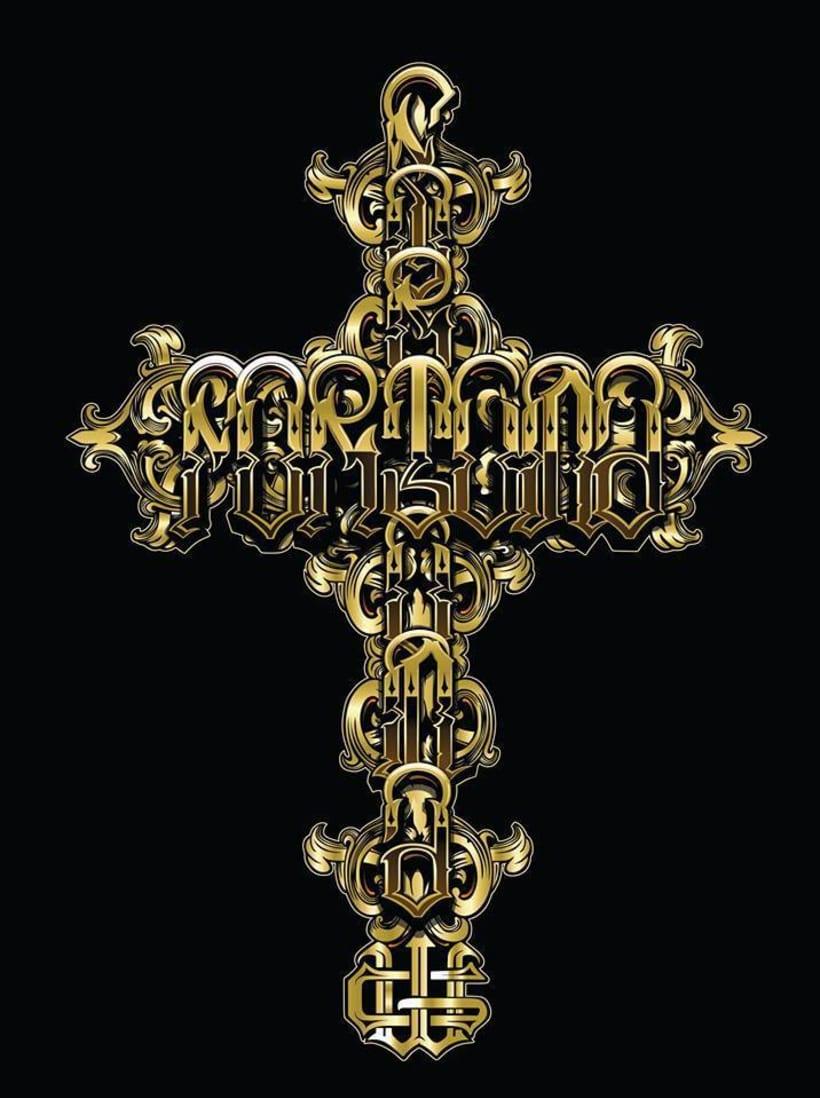 """ilustracion lettering """"fortuna""""  X Cuen 0"""