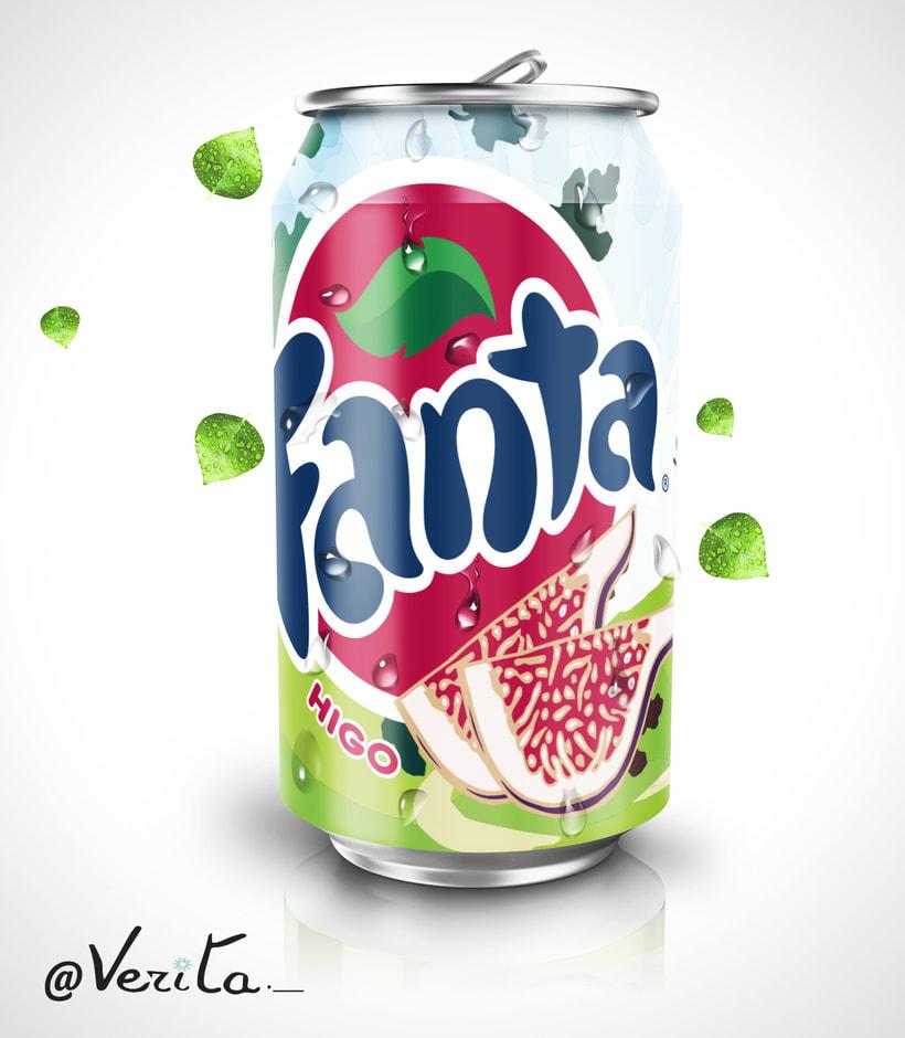 Trabajo de clase, creación de imagen para nuevo sabor de Fanta -1