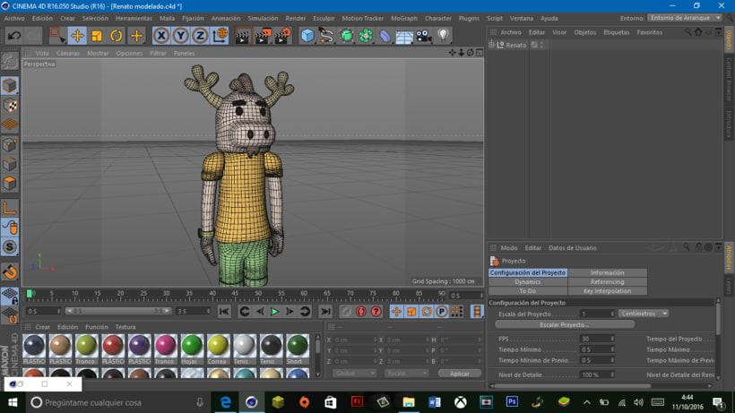 """Mi propio personaje creado en 3D: """"Renato"""",  el reno simpático y de pocas palabras. 11"""
