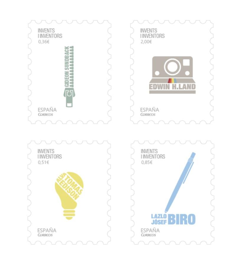 Colección Sellos de inventores -1