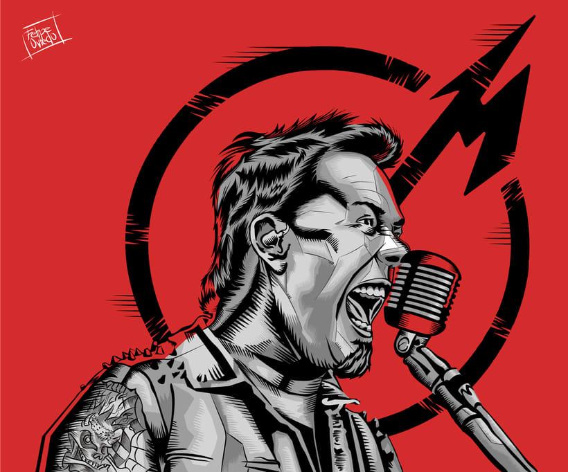 Ilustración James Hetfield de Metallica -1