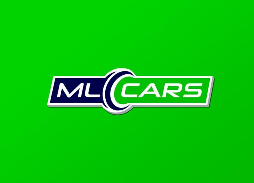 Diseño de logotipo para ML CARS, un centro ubicado en la provincia de Huelva y dedicado a la compra venta de vehículos de segunda mano y ocasión. 1