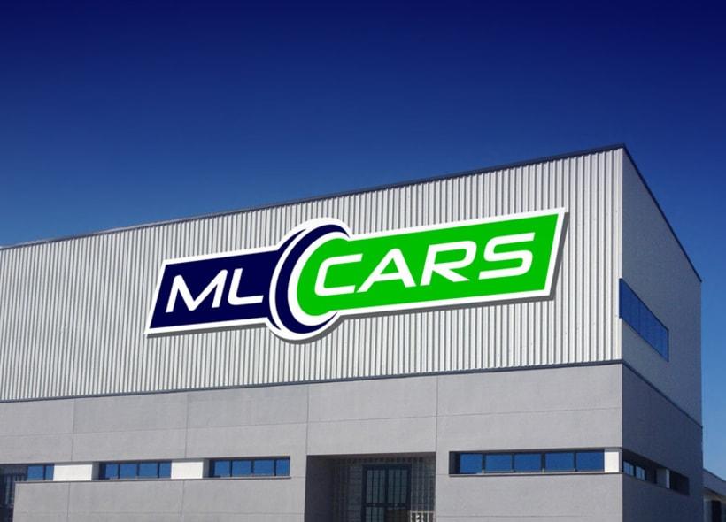 Diseño de logotipo para ML CARS, un centro ubicado en la provincia de Huelva y dedicado a la compra venta de vehículos de segunda mano y ocasión. 0