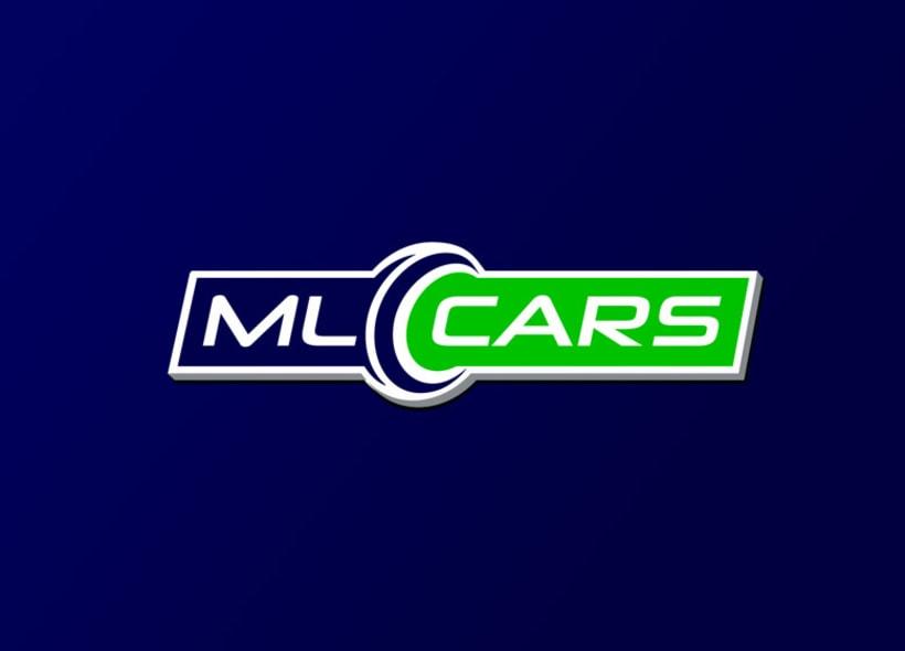 Diseño de logotipo para ML CARS, un centro ubicado en la provincia de Huelva y dedicado a la compra venta de vehículos de segunda mano y ocasión. 2