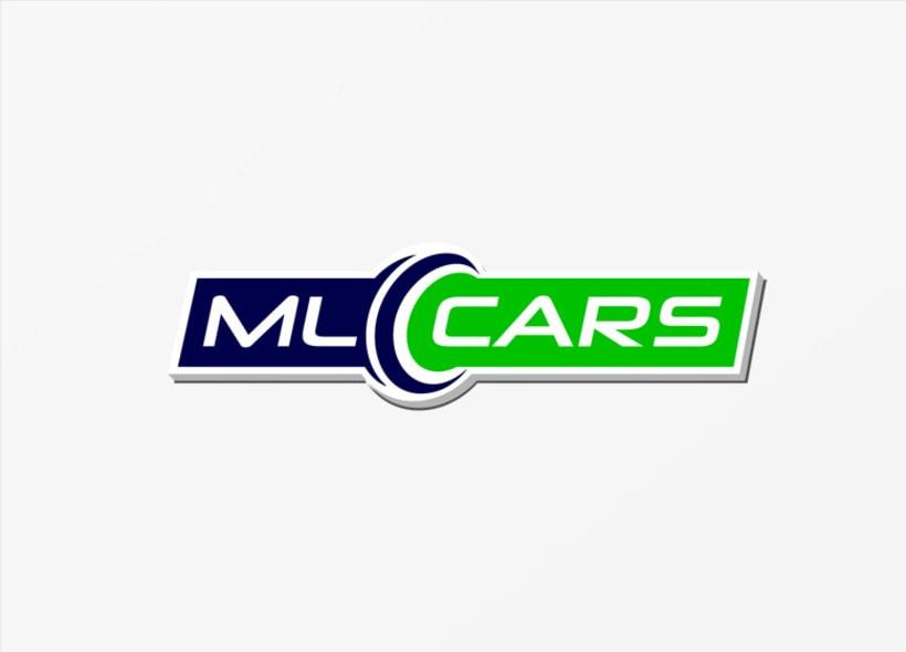 Diseño de logotipo para ML CARS, un centro ubicado en la provincia de Huelva y dedicado a la compra venta de vehículos de segunda mano y ocasión. 3