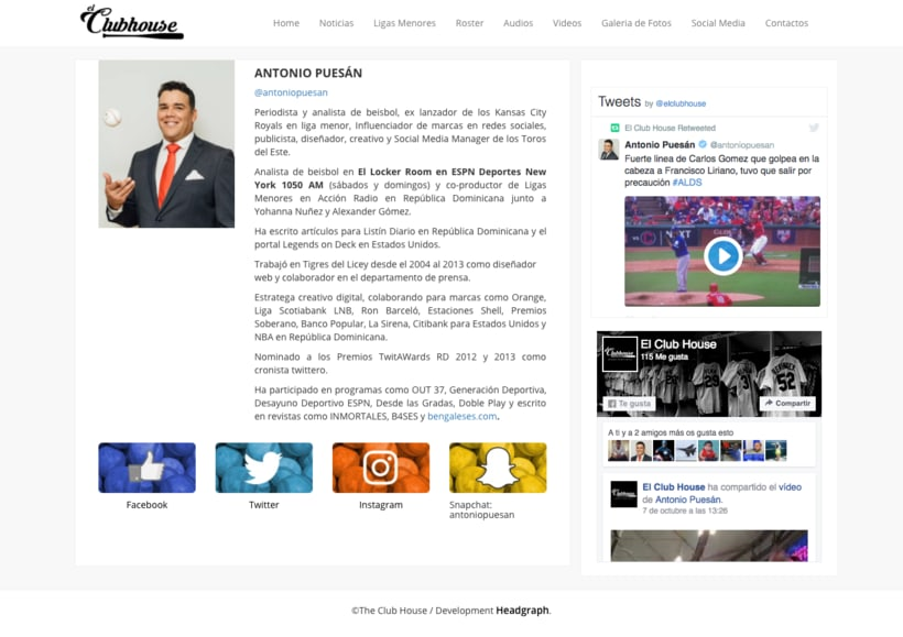 Website - El Club House 1