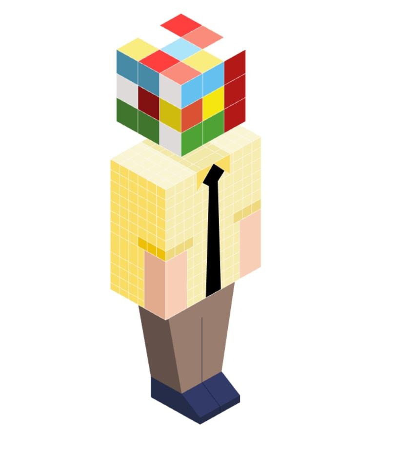 Rubik isometric -1