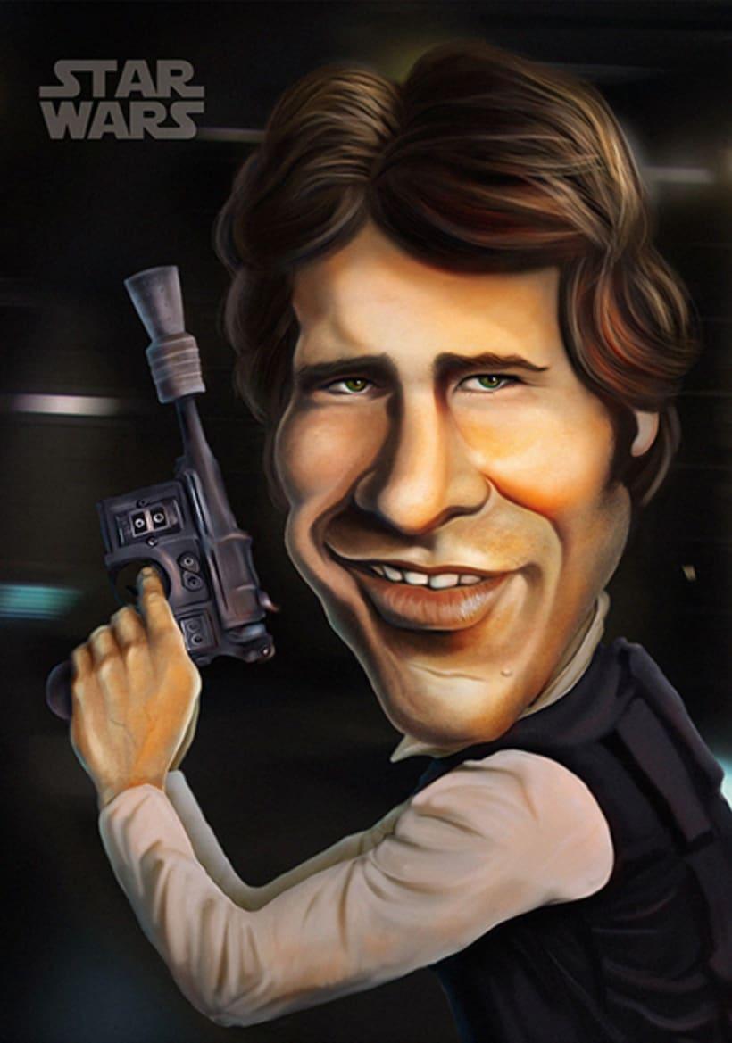 Caricatura Han Solo / STAR WARS 1