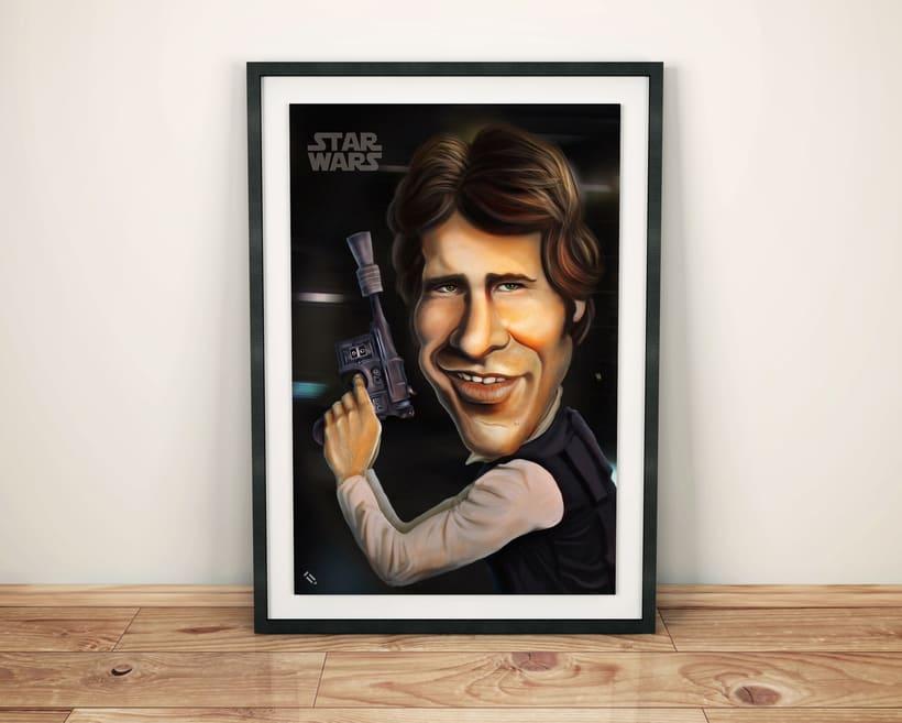 Caricatura Han Solo / STAR WARS 0