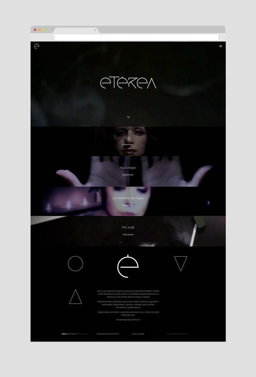 Marca y web para Etérea 5
