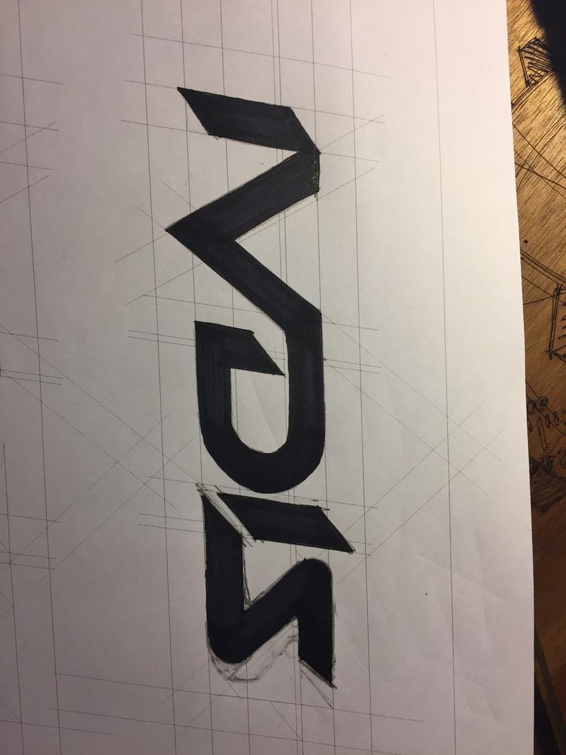Diseño del logotipo de IVDIS (monograma a usar mas adelante: Dragón) 2