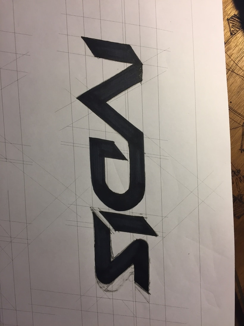 Diseño del logotipo de IVDIS (monograma a usar mas adelante: Dragón) 3