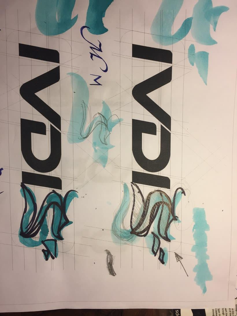 Diseño del logotipo de IVDIS (monograma a usar mas adelante: Dragón) 6
