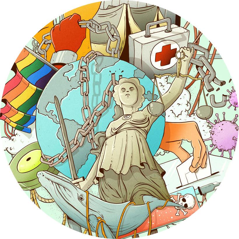 Mi Proyecto del curso: Técnicas de Ilustración y composición realista para prensa 9