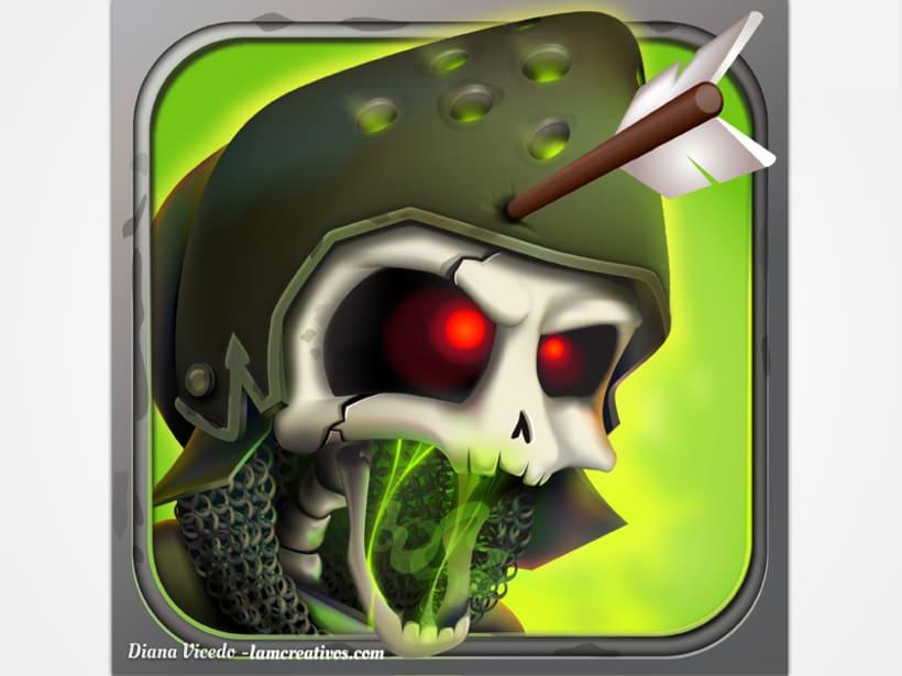 Diseño icono para aplicación Skull Legends 0