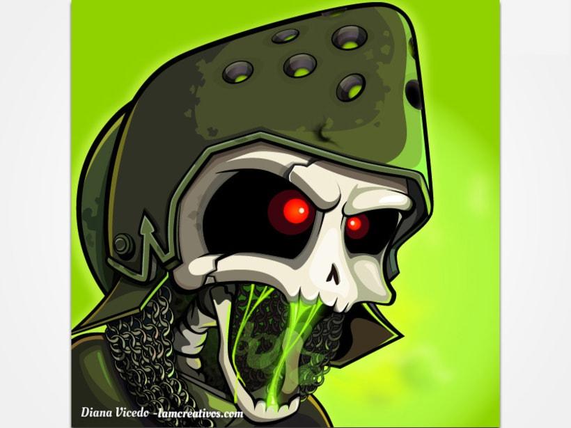 Diseño icono para aplicación Skull Legends 1