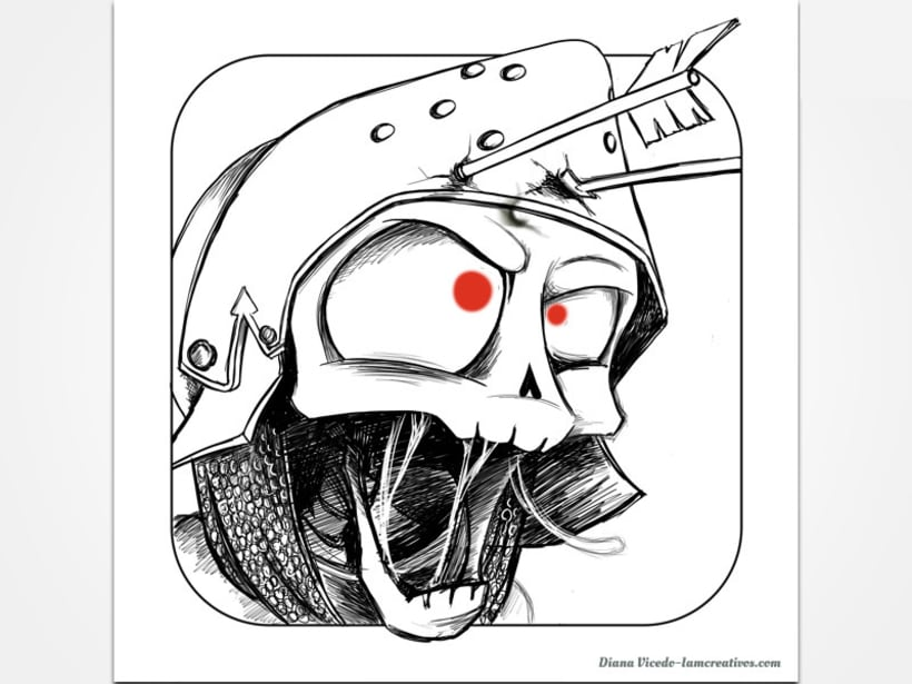 Diseño icono para aplicación Skull Legends 2
