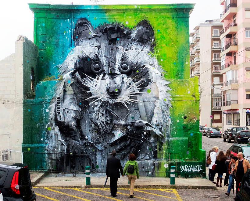 El arte urbano que remueve conciencias de Bordalo II 5