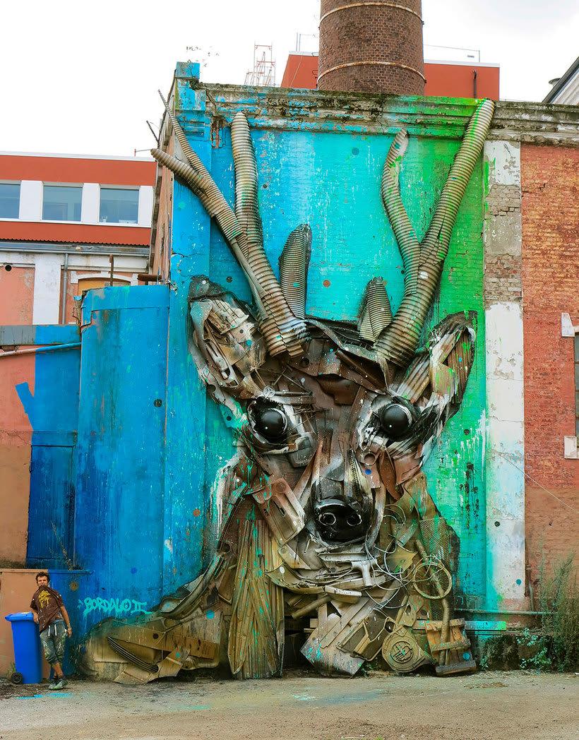 El arte urbano que remueve conciencias de Bordalo II 3