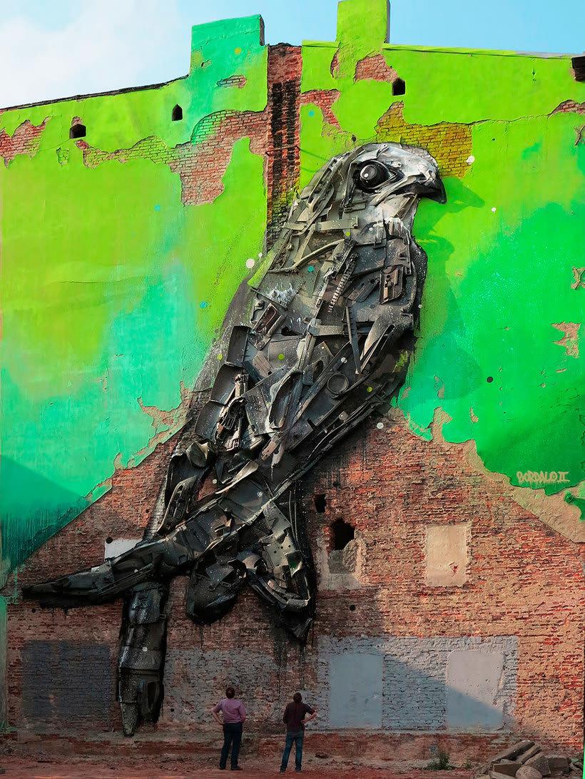 El arte urbano que remueve conciencias de Bordalo II 2